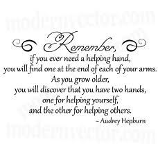 love this: Remember, Inspiration, Favorite Quote, Audrey Hepburn Quotes, Wisdom, Thought, Quotes Sayings, Helping Hands
