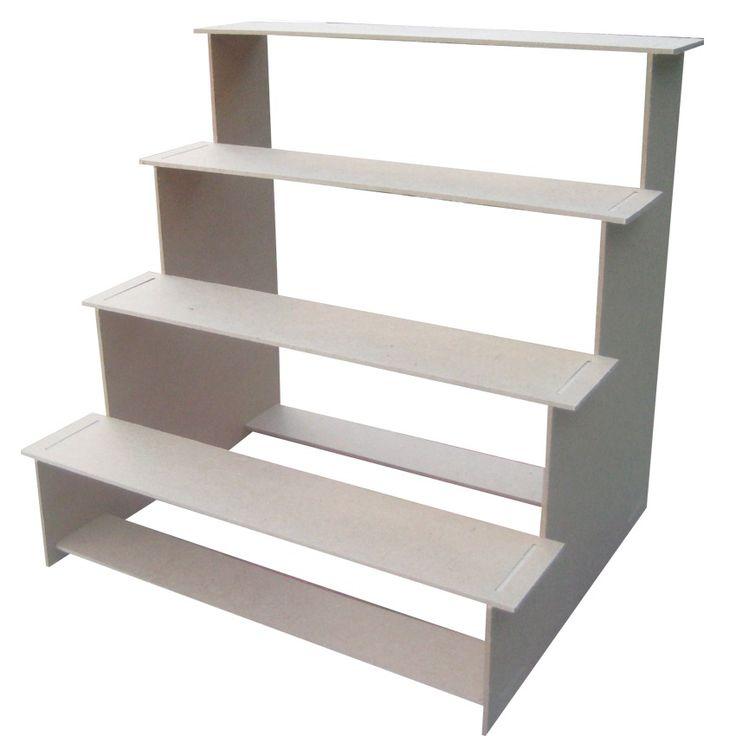 escalera para cupcakes o mesa de postres de 4 niveles mdf