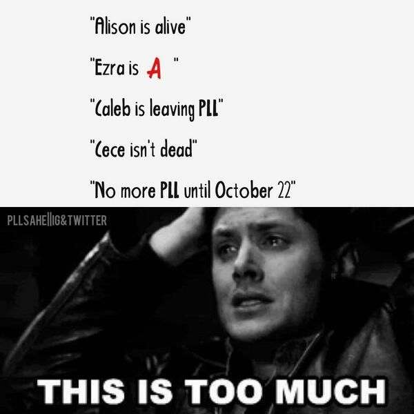 Pretty Little Liars. P. S.  I'm freaking out because Jensen Ackles is in a pll post and I just love them both soooo much!!!!!