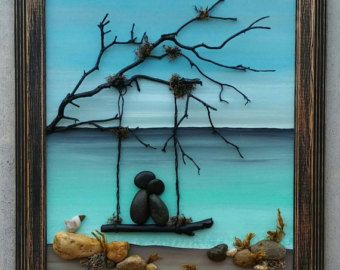 Pebble Art / Rock Art Couple dreaming about their von CrawfordBunch