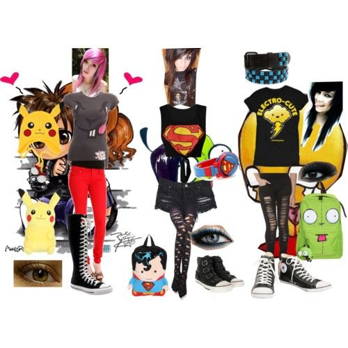 Emo Polyvore Outfits for Girls | Emo Outfit Ideas | Outfits | Pinterest | Cool outfits Outfit ...