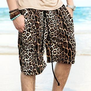Леопардовые шорты мужские