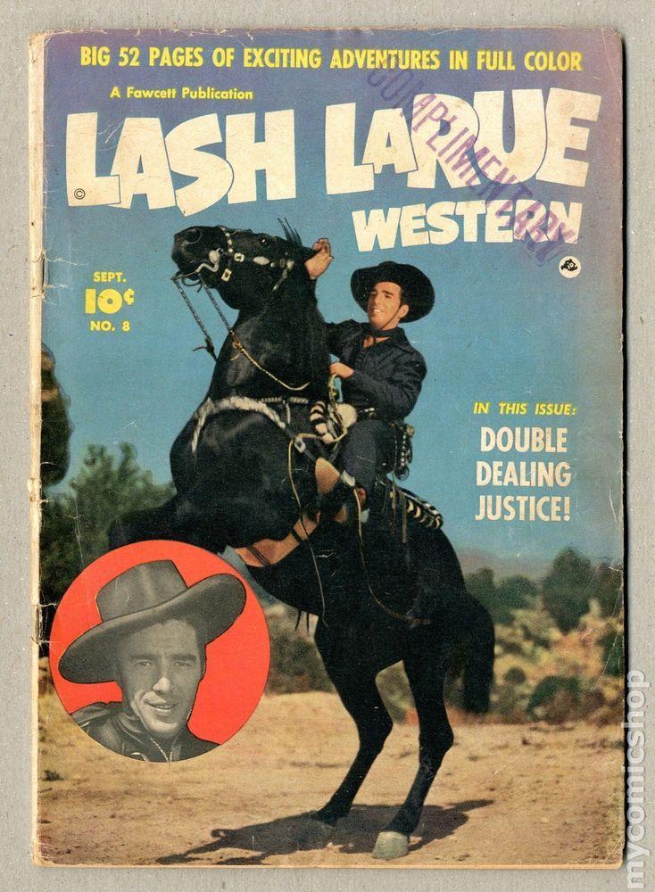 Lash Larue Western Fawcettcharlton 8 1950 Gd 18 Bull Whip