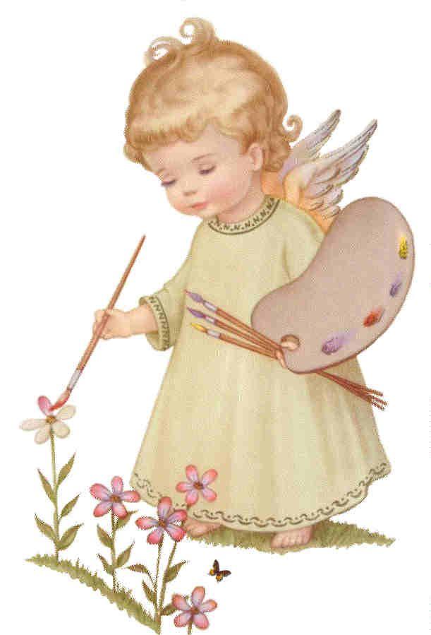 Angelitos Vintage, angelitos,