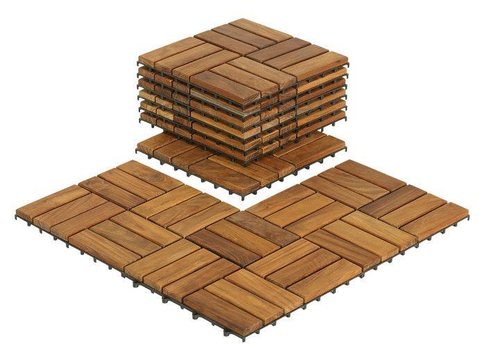 "EZ-Floor Wood 12"" x 2"" Interlocking Flooring Tile Trim in Teak"