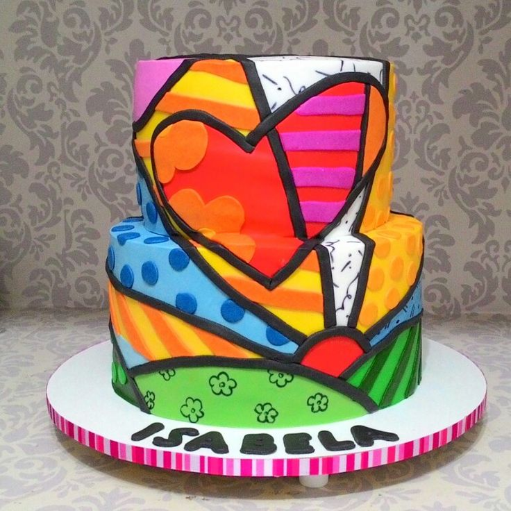 Bolo - Cake - Romero Britto