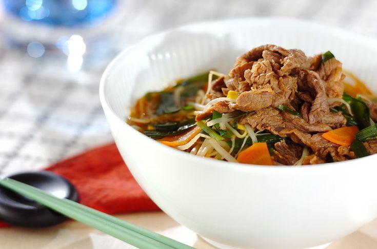 韓国の伝統料理クッパを春雨に変えてカロリーオフ。