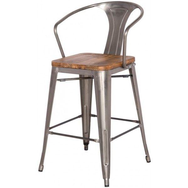 Grand Metal Counter Chair Zinc Bar Stool For Kitchen