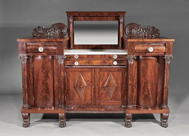 c1830 Classical Empire sideboard, attr Anthony Quervelle, Phila, Boor, mah,  73w. Mahogany SideboardAntique FurniturePhiladelphiaEmpireChest ... - 23 Best Maker - Quervelle, Anthony. Philadelphia, PA Images On