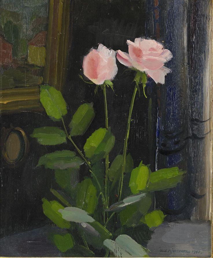 Olle Hjortzberg, Rosa rosor i interiör