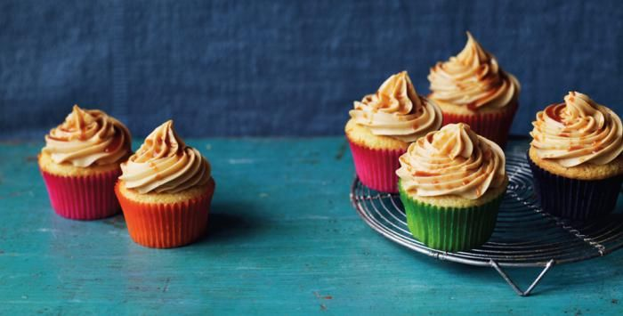 Salted Caramel Cupcakes - All Things Sweet by Rachel Allen is published by HarperCollins, photography by Tara Fisher.