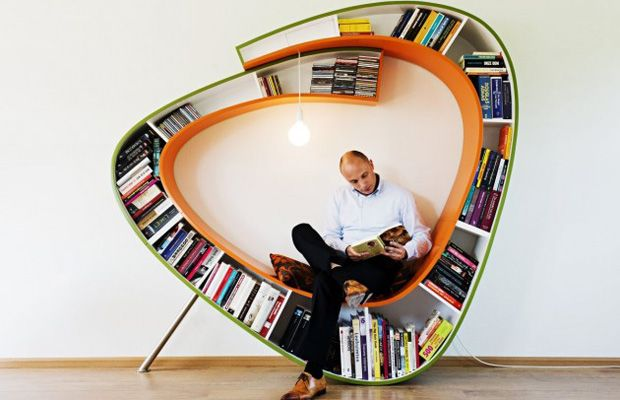 The Bookworm Bookcase by Atelier 010