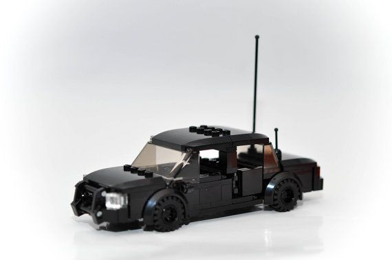 Custom City Police Car SWAT Undercover Model built with Real LEGO (R) Bricks