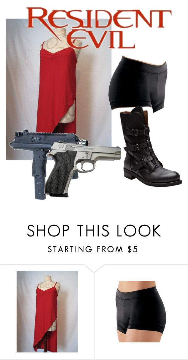 """Resident Evil Alice Cosplay"" by missavenged7x ❤ liked on Polyvore featuring E.vil, Smith & Wesson and Buttero"
