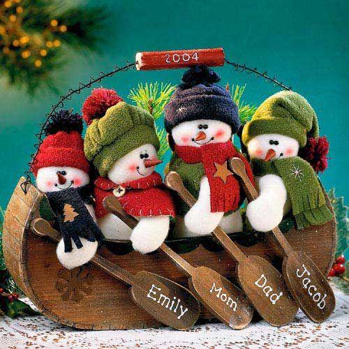 familia de nieve