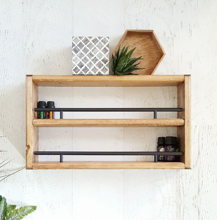 Wall Mounted Wooden Spice Rack Plans: Spice Rack, Wall Mounted Spice