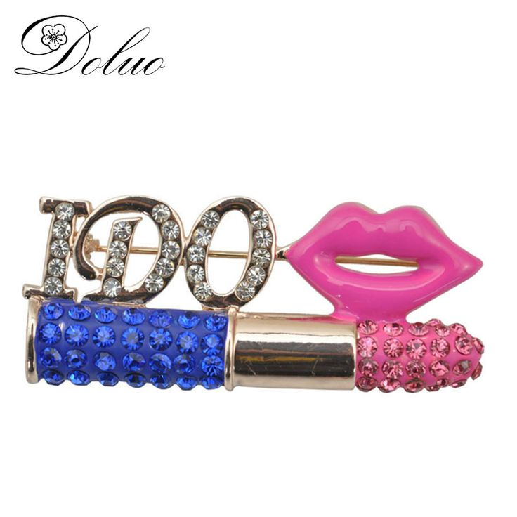 Cheap lipstick brooch, Buy Quality brooch jewelry directly from China brooch lipstick Suppliers: Letter lipstick brooch inlaid Crystal cork flower Korean fashion jewelry for Women