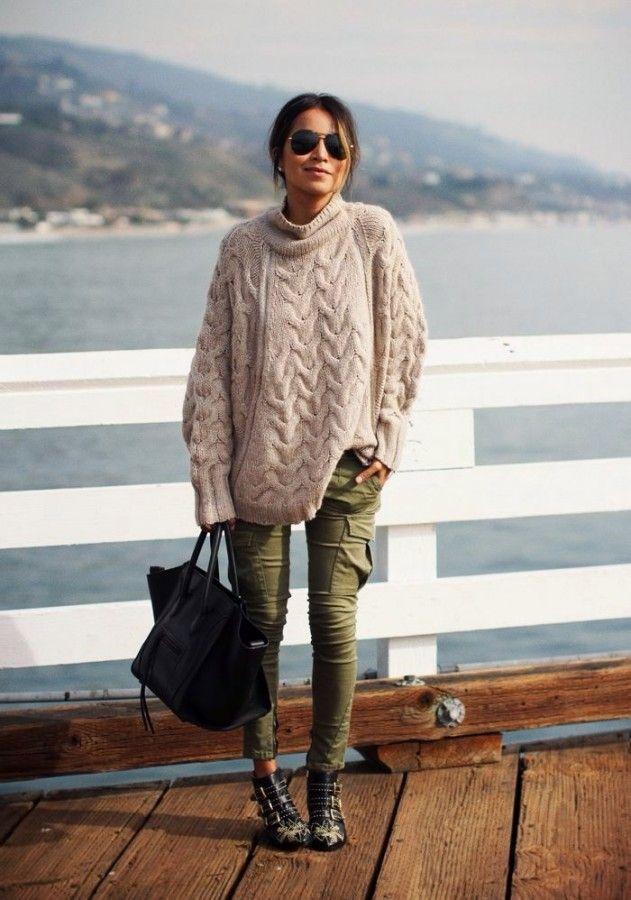 С чем носить свитер оверсайз: образы из жизни 4