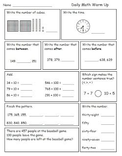 Printables 3rd Grade Math Review Worksheets 1000 ideas about 3rd grade math worksheets on pinterest 2nd smiling and shining in second morning work for good review while teaching third