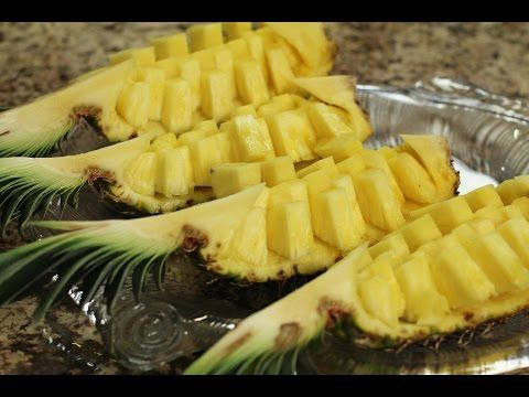 How To Cut A Pineapple Fruit Display Easily In 6 min. by Rockin Robin - YouTube