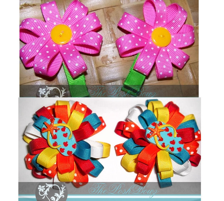 Hair Flower Tutorials by ThePoshBowz on Etsy