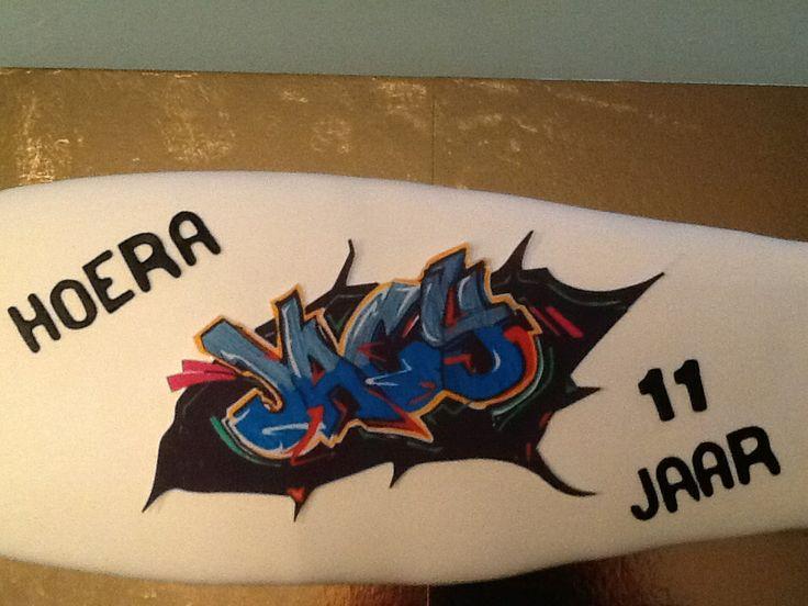 Skateboard taart voor Jacy