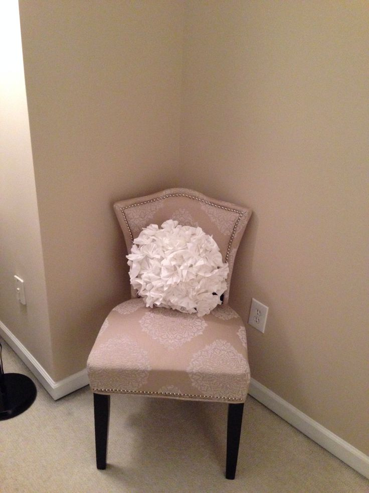 Obsessed With This Cynthia Rowley Beige Chair And Decorative Pillow I Found  At Home Goods This