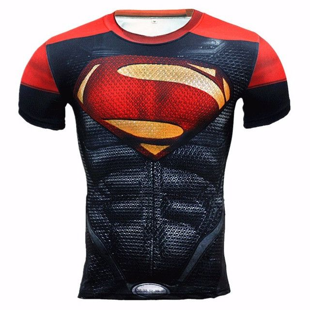 New 2016 Brand Clothing Fitness Compression Shirt Men Superman Bodybuilding Long Sleeve 3D T Shirt Crossfit Super Tops Shirts