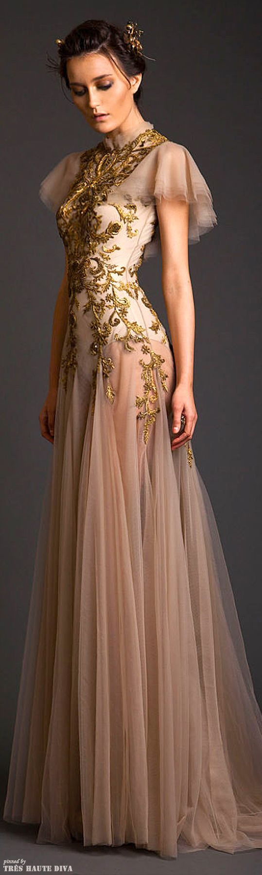 WOW! I'm putting this on my Steampunk board cuz I think it has some amazing possibilities! ==> Krikor Jabotian Couture S/S 2014.