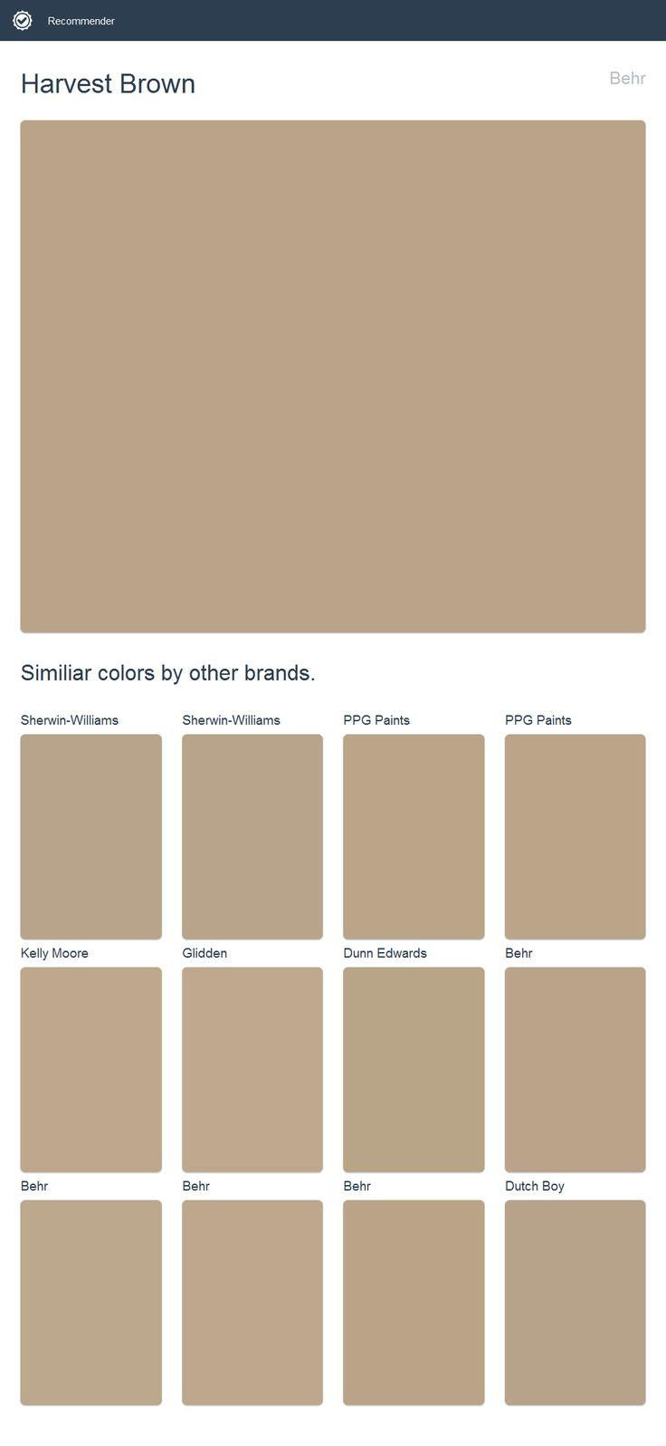 Harvest Brown Behr Click The Image To See Similiar