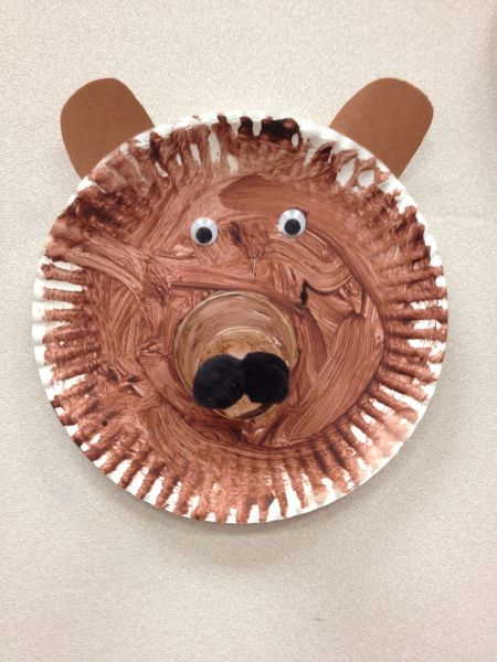 paper plate bear craft