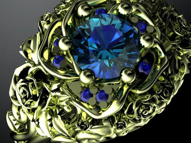 Yellow gold own design rose ring
