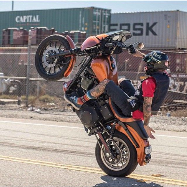 how to ride a wheelie on a harley