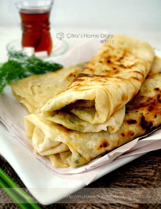 Citra's Home Diary: Patetes Gözleme (Turkish flat bread filled with potato)