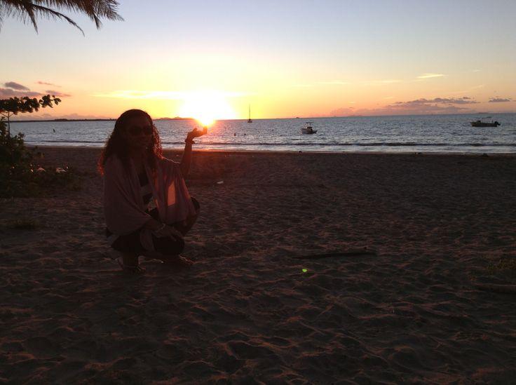 Beutiful Sunset @ Bamboo Travellers,Fiji