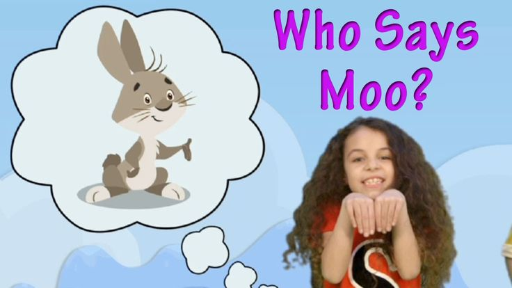Who Says Moo? - Animal Song for Kids in English