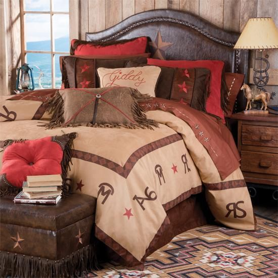western/cowboy bedding | western decor rustic lighting western furniture western benches rustic ...