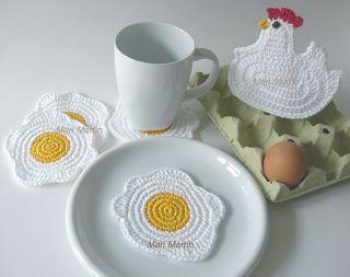 Crochet Coasters Eggs