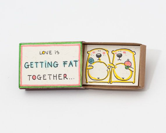 Cute Anniversary Love Romantic Card Matchbox / Gift box door shop3xu