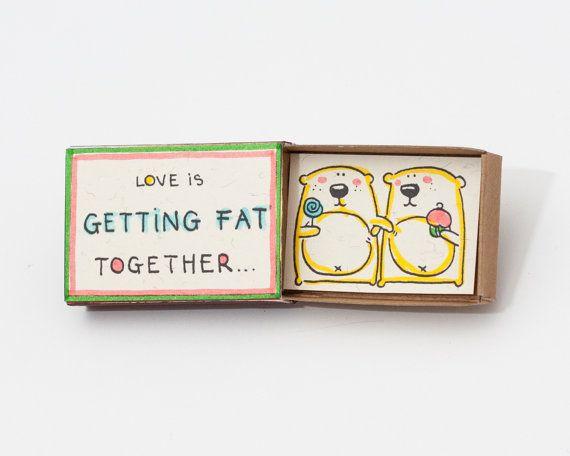 Cute Anniversary Love Romantic Card Matchbox / Gift box door shop3xu
