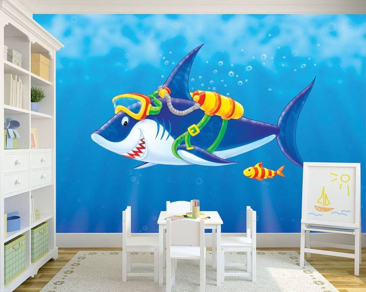 Dla małych miłośników morskich klimatów  #homedecor #fototapeta #obraz #aranżacjawnętrz #wystrój wnętrz #decor #desing #kidsroom #babyroom #kids #kidsinteriors #kidsroomdecor