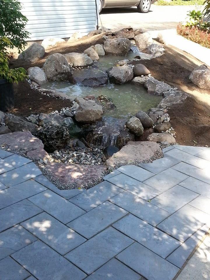 Waterfall Created By Inspired Living Water Landscape Service. In Battle  Creek, MI. #