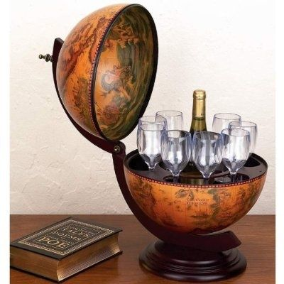 Got this hidden globe bar for hubs a couple years ago, a great gift for dudes.