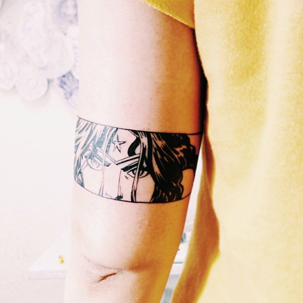 Wonder Woman based on Cliff Chiang's pencils #Tattoo by Victor Xis - Gelly's Tattoo Sao Paulo