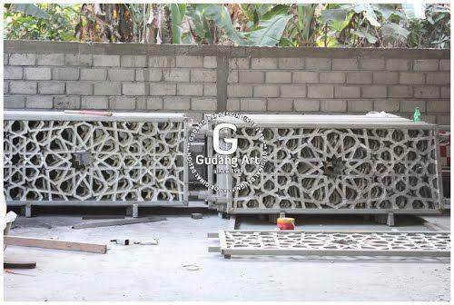 Ornamen Pagar Masjid Islamic Cor Aluminium