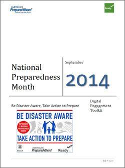 National Preparedness Month 2014 Toolkit