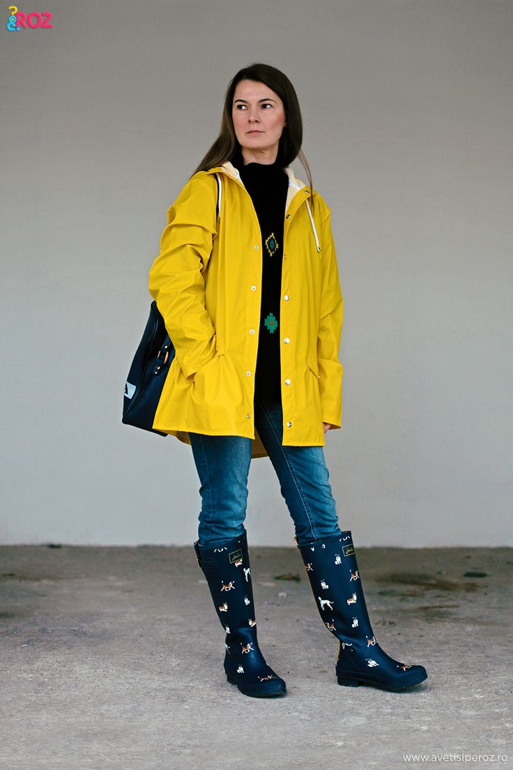 rains coat and joules wellies