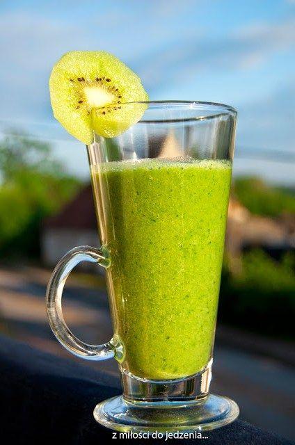 Słodki, zielony koktajl…. ze szpinaku