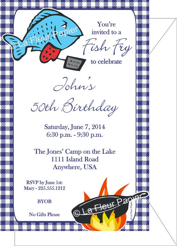 19 best Fish Fry Ideas images on Pinterest Country life, Country - fresh birthday party invitation ideas wording