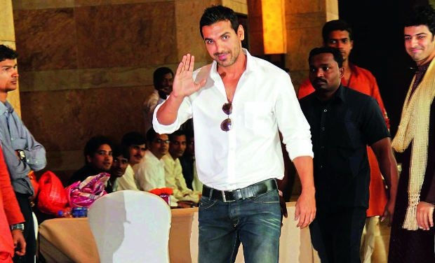 John is visibly excited about his role as Manya Surve in 'Shootout At Wadala' (SAW).